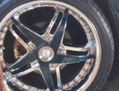 Chrome rims and tyres