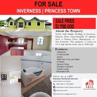 Peaceful Living in 3 Bedroom House Inverness Princess Town