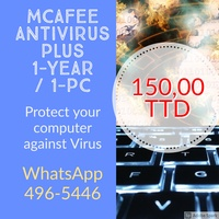 McAfee Antivirus 1 year 1 Pc