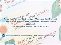 Polymer Birth and Marriage Certificate