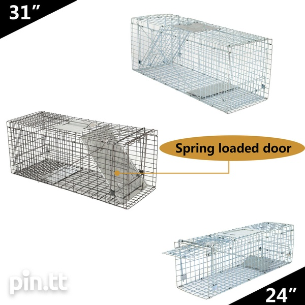 Animal Trap Large Rodent Steel Cage-3