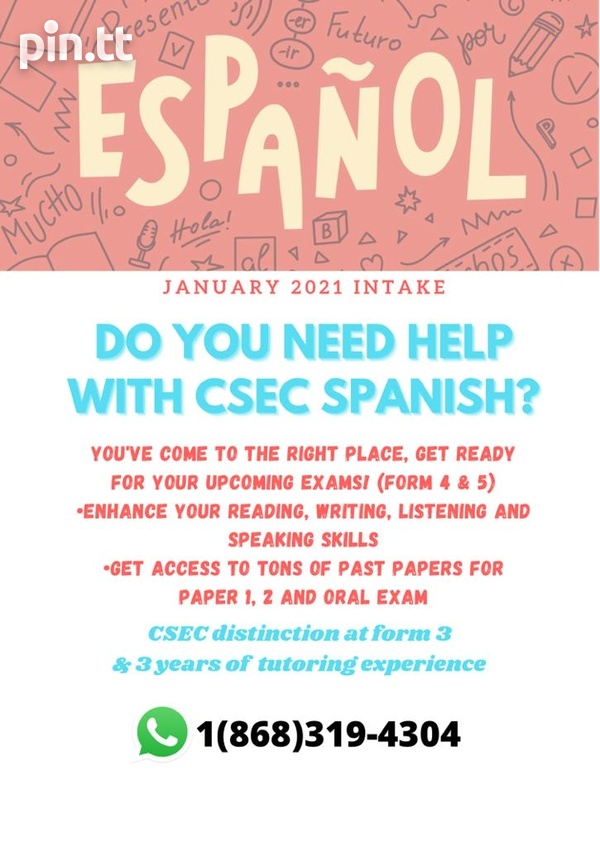 CSEC Spanish Lessons Form 4 and 5