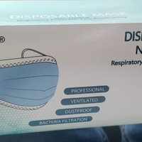 Disposable Mask Black Box of 50 Pieces