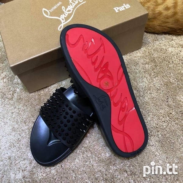 Christian Louboutin Red Bottom Slides Size 9 Unisex