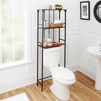 Over Toilet Metal and Wood Storage