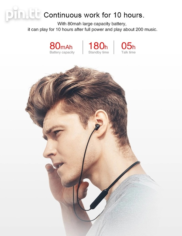 New In Box Bluetooth Magnetic Sport On-The-Neck Headphones-3