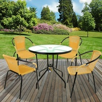 CARAMEL PATIO 5PC HOME ACCENTS