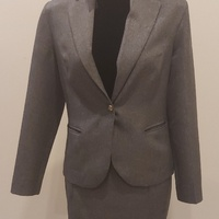 Grey Suit Work Outfit