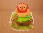 FisherPrice sit me up floor seat with tray - Lion