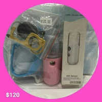 Combo- Nano mist spray/Touch Tool and Hand Sanitizer Wrist Band