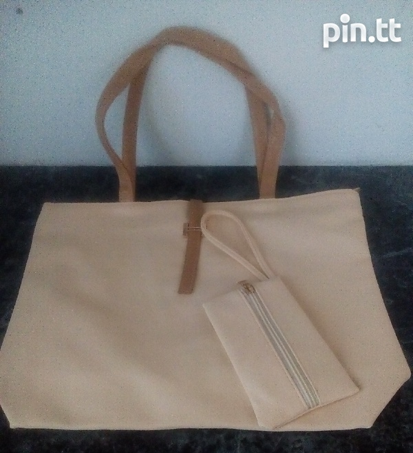 Plain Handle Bags with carrying purse-6