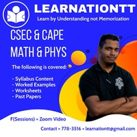 CSEC AND CAPE MATHS AND PHYS ONLINE LEARNING