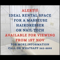 Ideal space for hairdresser, nailtech