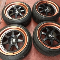 17x9 rims and tyres 4x100