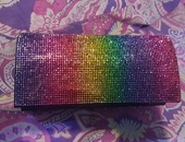 Bedazzled clutch purse