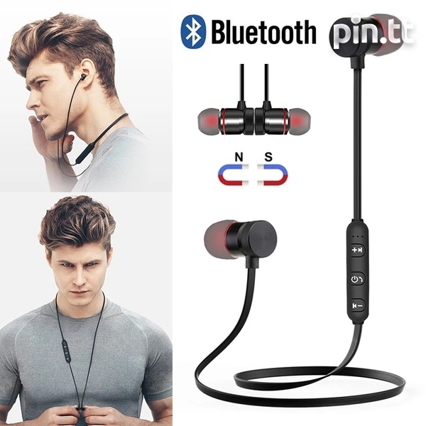 New In Box Bluetooth Magnetic Sport On-The-Neck Headphones-1