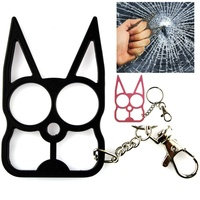 Cat Self Defence Keychain Knuckle Weapon