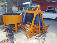 Block machine and concrete mixer