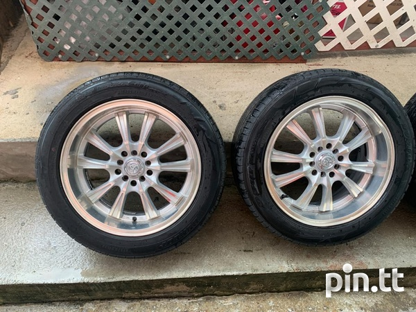 Rims and tires used in good condition-2