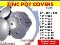 Pot covers cost varies by size