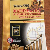 Volume 2 Mathematics - A Complete Course With CXC Questions