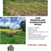 1 Acre of Land in Coryal Cumuto