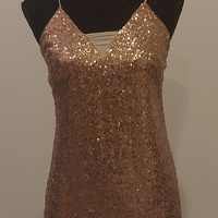 Strap Sparkley Rose Gold Tunic