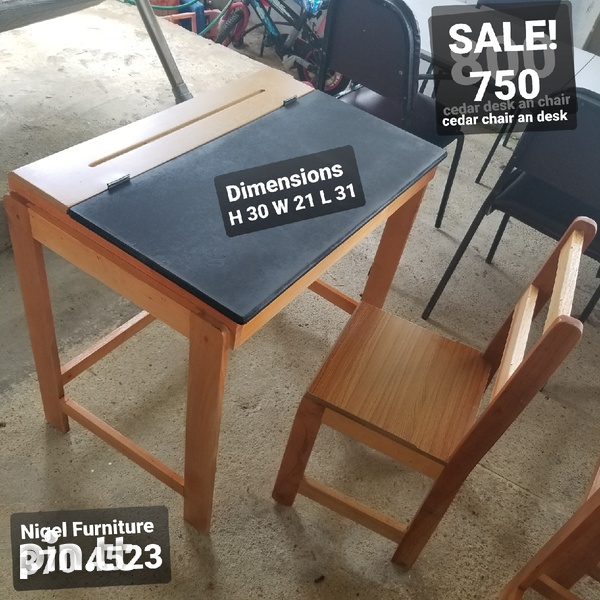Kids chair and desk-2