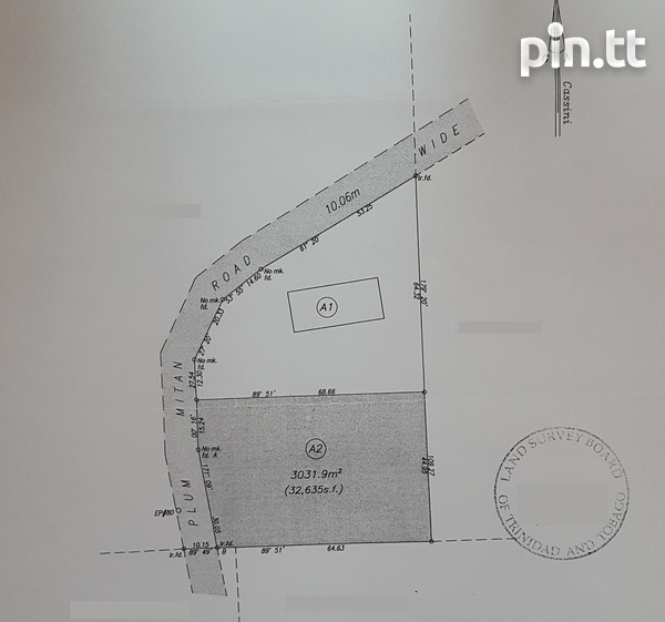 32,000 s.f land with approvals, Plum Mitan Road, Manzanilla-6