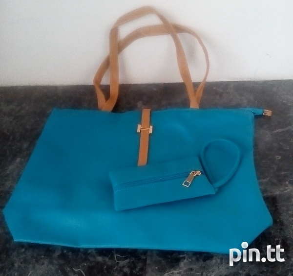 Plain Handle Bags with carrying purse-3