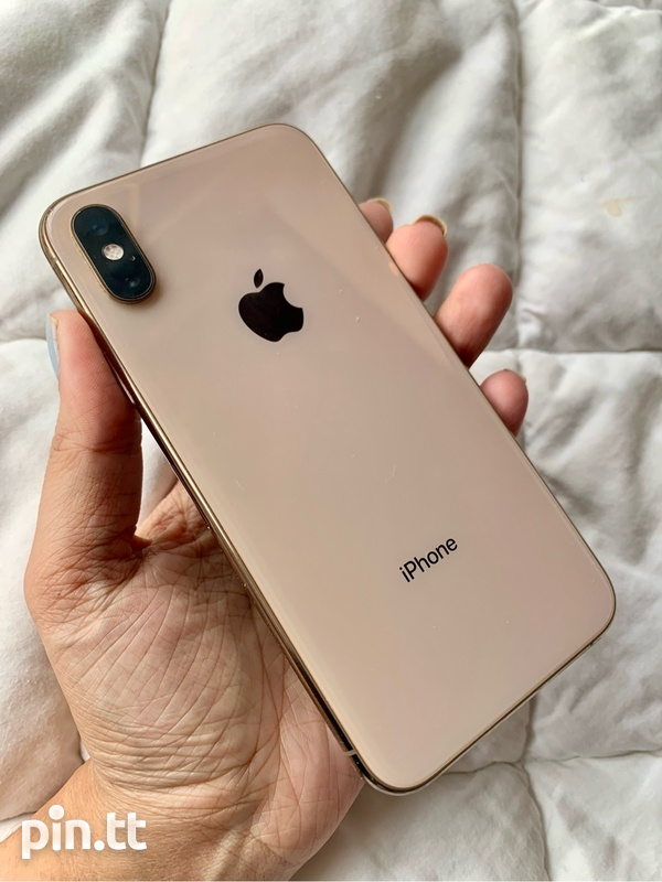 Gold IPhone XS + Accessories-5