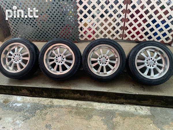 Rims and tires used in good condition-1