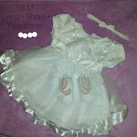 Used baby girl clothing and 1 pair shoes