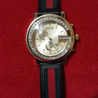 Gold Face Gucci Leather Band Unisex