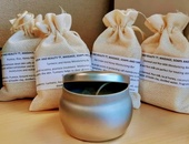 Artisan soaps, scented candles and homemade spice infused coconut oil
