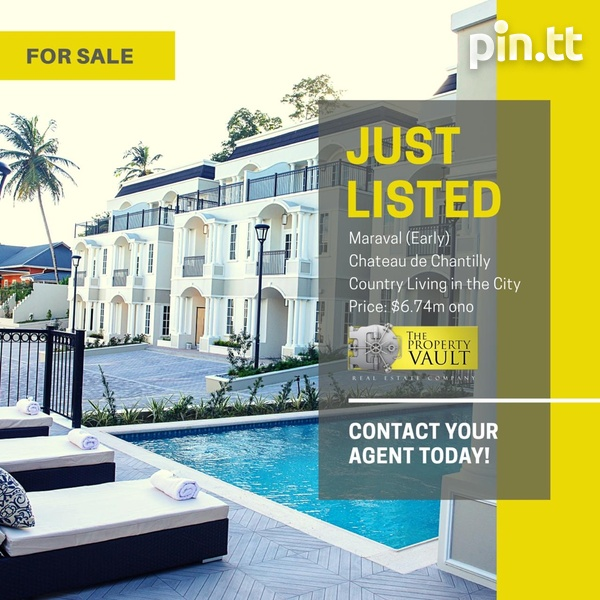 Luxury Townhouses At Château De Chantilly Early Maraval-1
