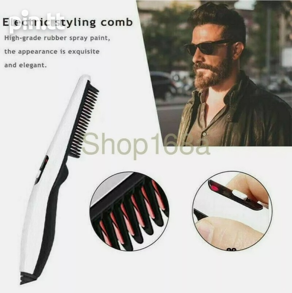 Hair straightener / Heated beard brush-4