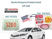 Corolla Altis Oil and Air Filters