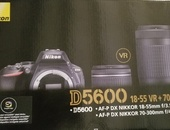 New Nikon D5600 Camera with accessories
