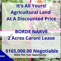 2 Acres Agricultural Caroni Leased Land