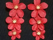 3 tier flower earring