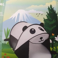 NEW LARGE KIDS PLAY TENT PANDA