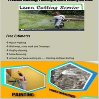 Pressure washing painting and lawn cutting services