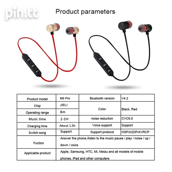 New In Box Bluetooth Magnetic Sport On-The-Neck Headphones-6