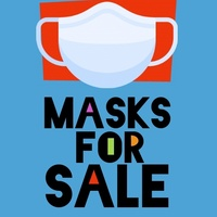 Fabric face mask Available.