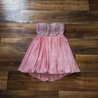 Pink Mini Dress with Sequins