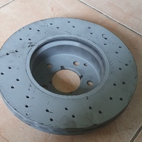 Slotted front rotor for W204 class.