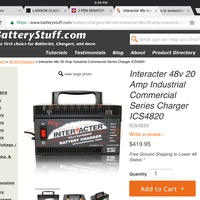 REDUCED 48V 20A INTERACTER BATTERY CHARGER