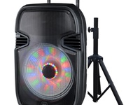 Soundwave Portable Speaker with LED Lights 15 inch with Stand