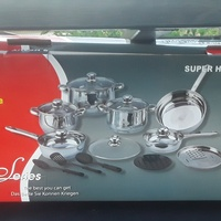 crystal cuisine super heavy duty 17 pcs cookware usa desgned german made